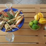 gites-guadeloupe-bungalow-table-dhotes-aperitif-restaurant-fruits-de-mer-Colombo-ouassous